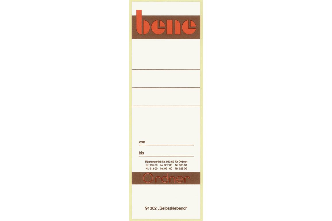 Rückenschilder Bene für 91300 weiss, Art.-Nr. 091362 - Paterno Shop