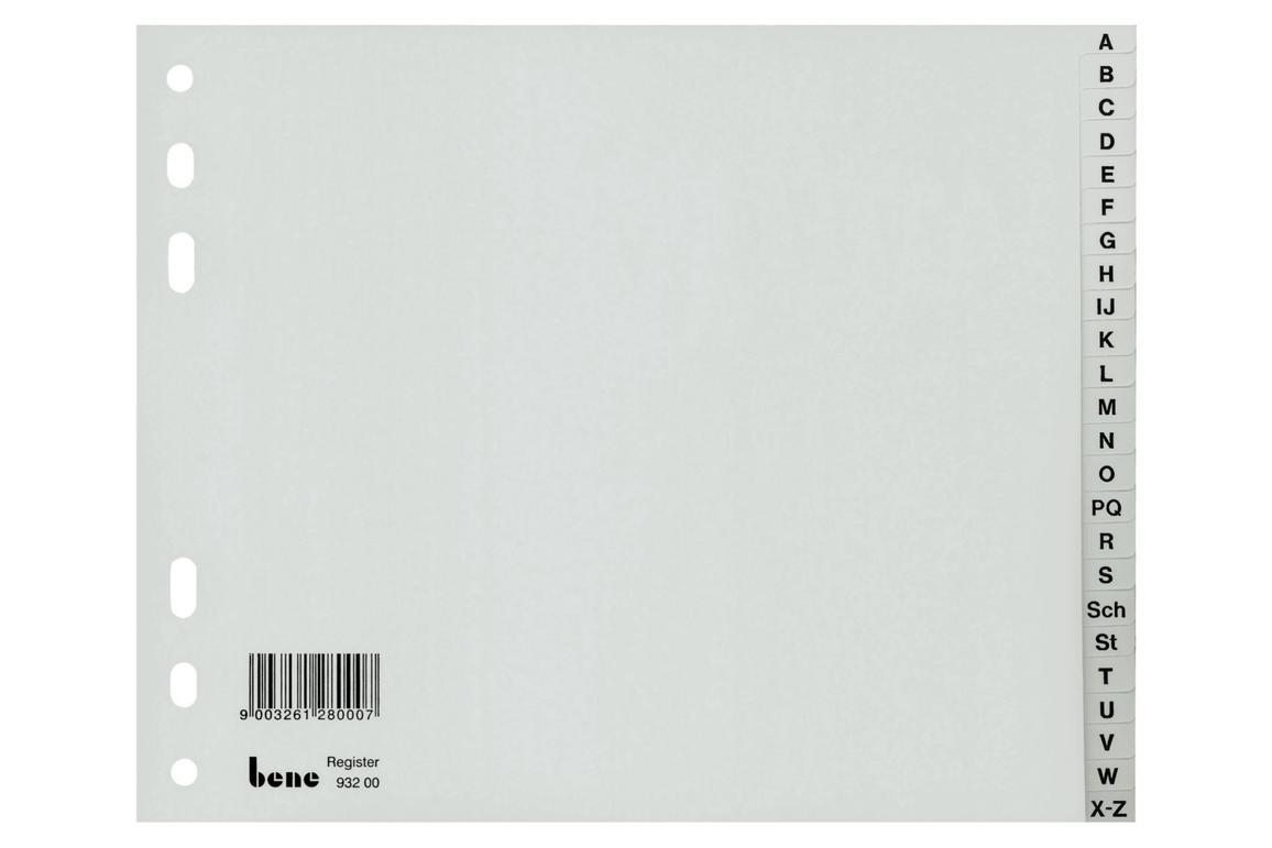 Register Bene A-Z 20-teilig, Art.-Nr. 093220 - Paterno Shop