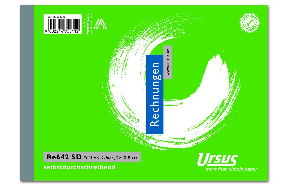 Rechnungsbuch RE642SD A6 quer 2x40 Blatt, Art.-Nr. 094210 - Paterno Shop