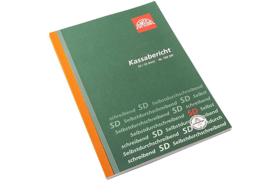 Kassabericht Omega A4 2x50 Blatt, Art.-Nr. 103O - Paterno Shop