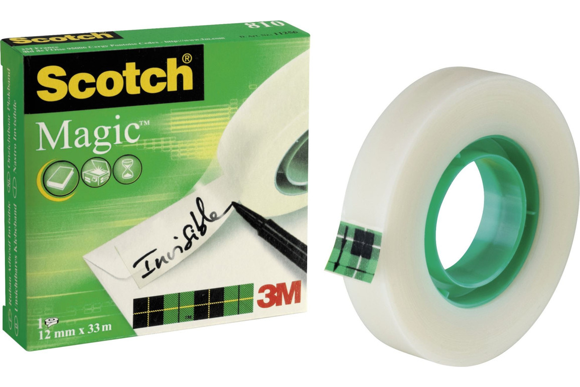Klebeband Scotch Magic 12mmx33lfm, Art.-Nr. 11256 - Paterno Shop