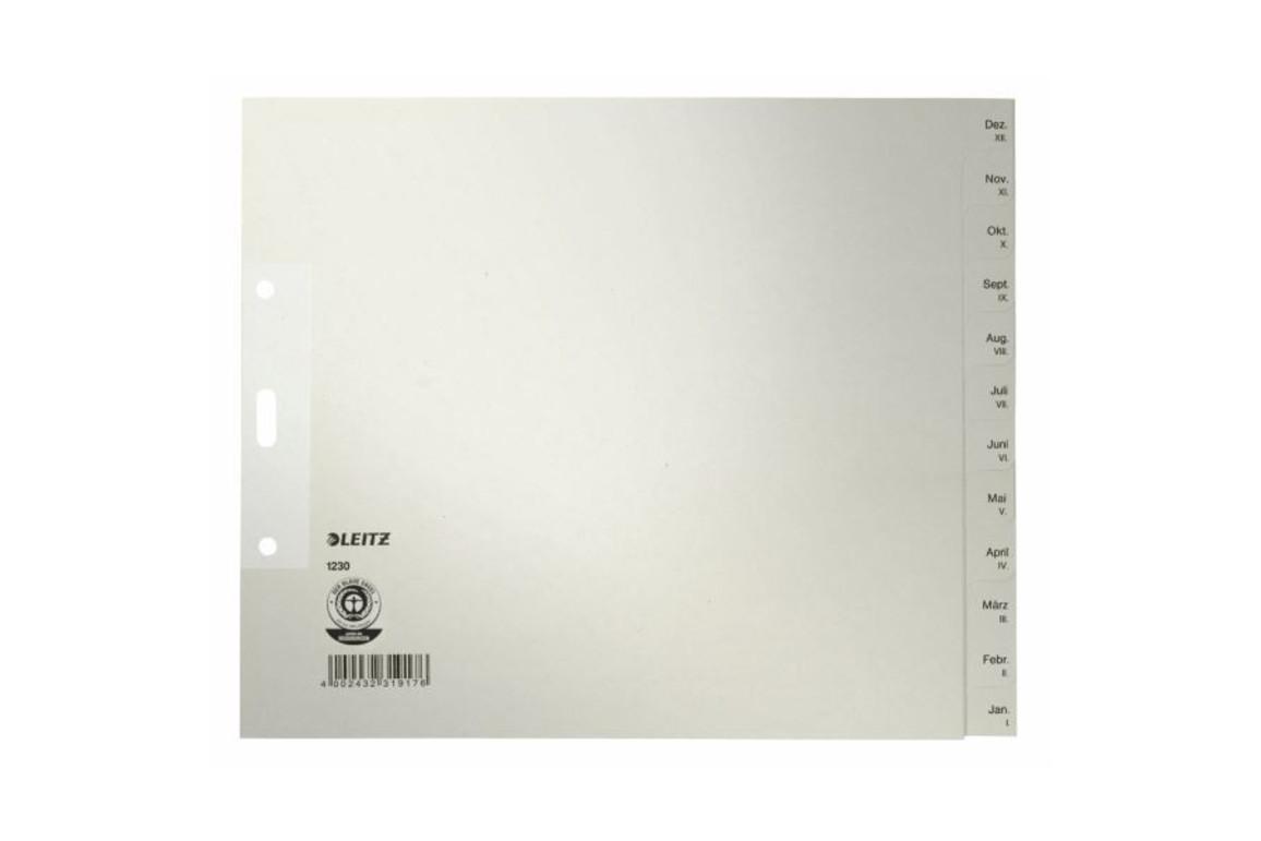Register Leitz Monate 240x200 mm grau, Art.-Nr. 1230-00-85 - Paterno Shop