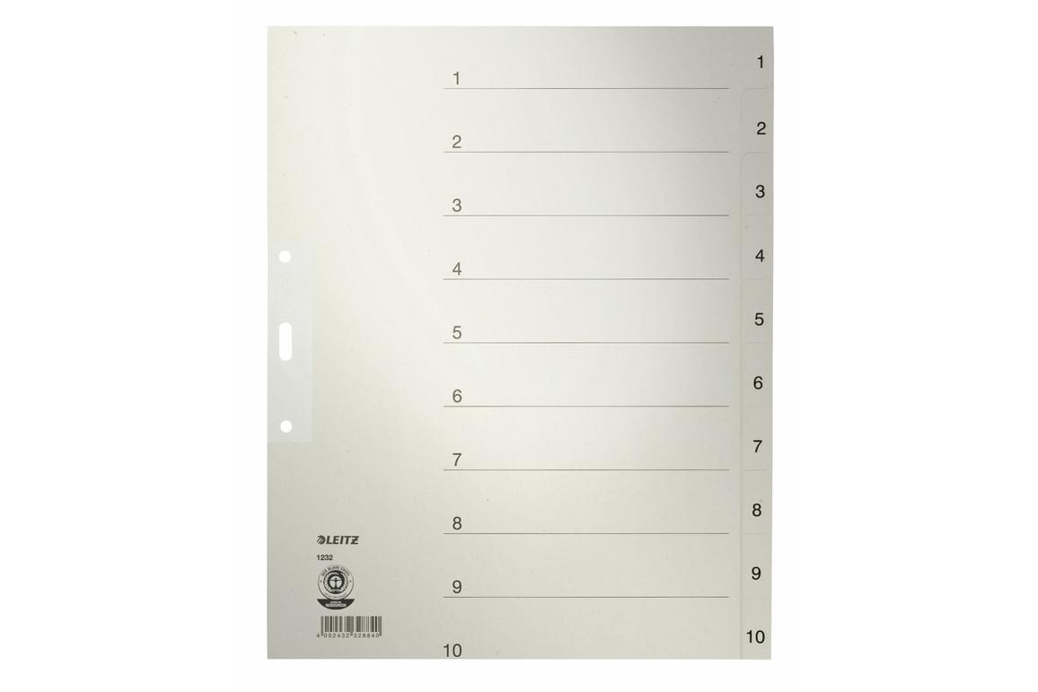 Register Leitz A4 1-10 grau, Art.-Nr. 1232-00-85 - Paterno Shop