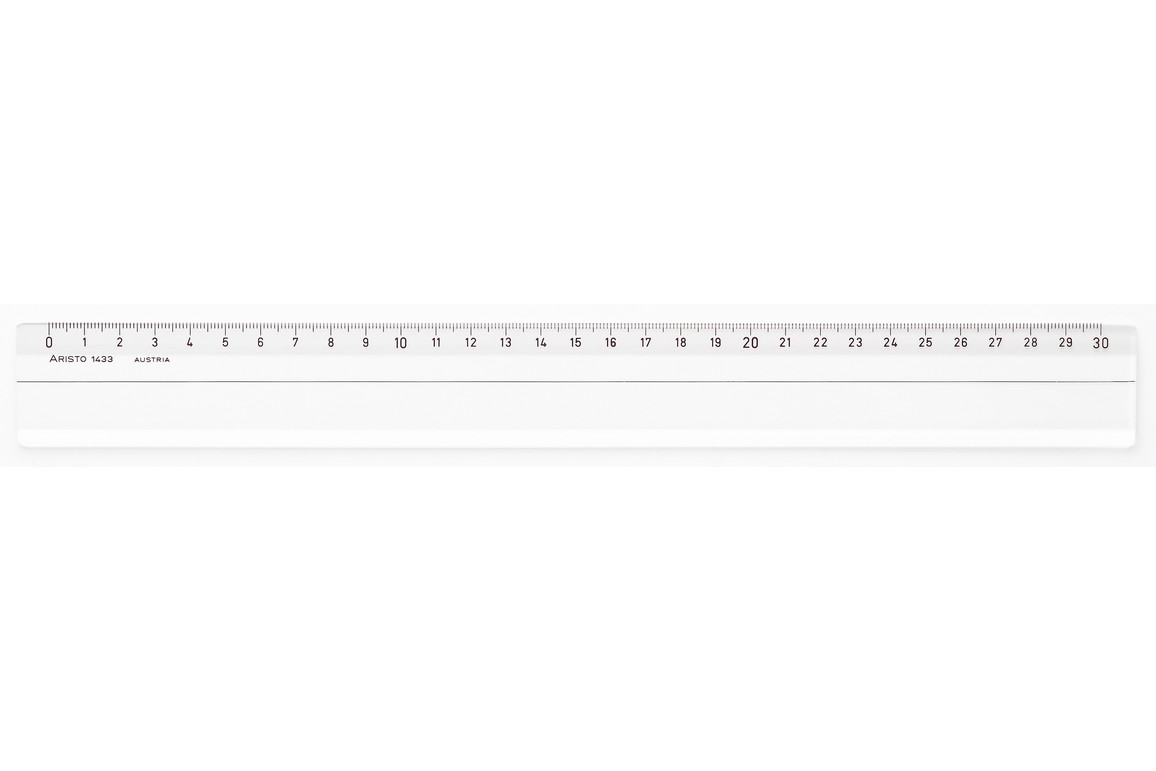 Lineal Aristo 30 cm Plexglasi, Art.-Nr. 1433 - Paterno Shop