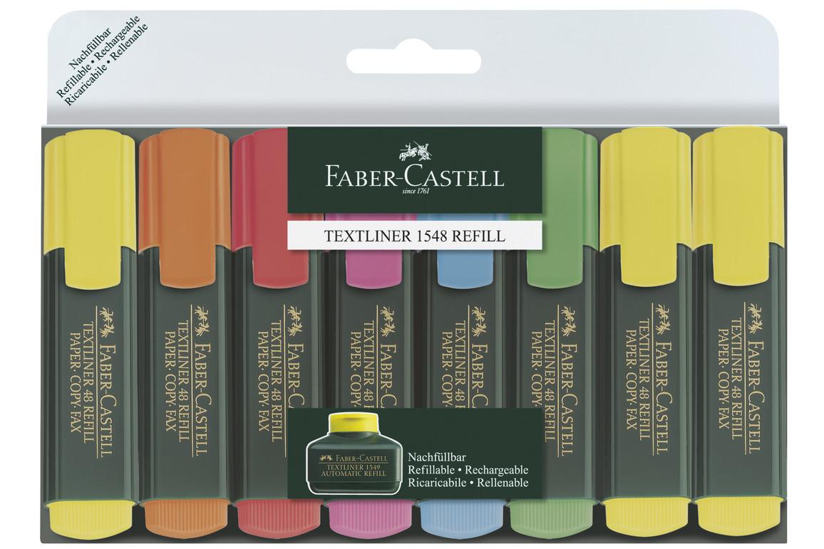 Textmarker Faber Castell 8-er Set, Art.-Nr. 154862 - Paterno Shop