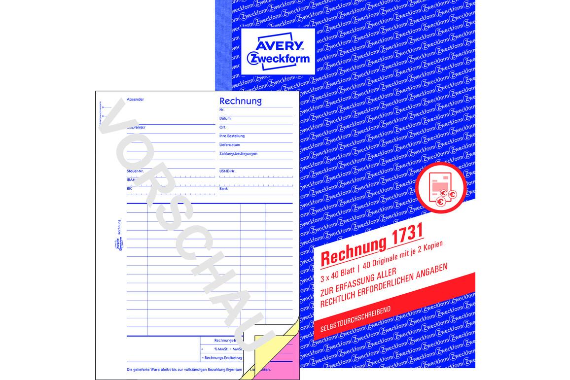 Rechnungsbuch ZWF, DIN A5 hoch, Art.-Nr. 1731ZWF - Paterno Shop