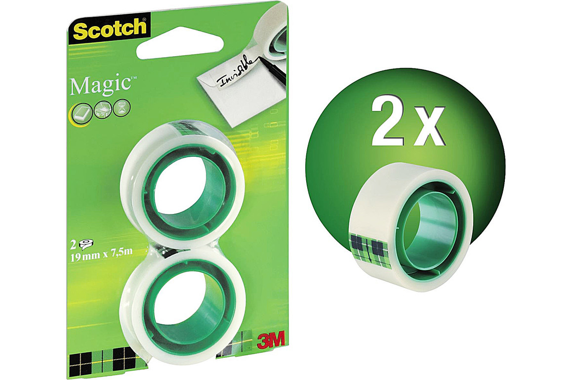 Kleberolle Scotch Magic 19mm x7,5lfm, Art.-Nr. 1975R2 - Paterno Shop