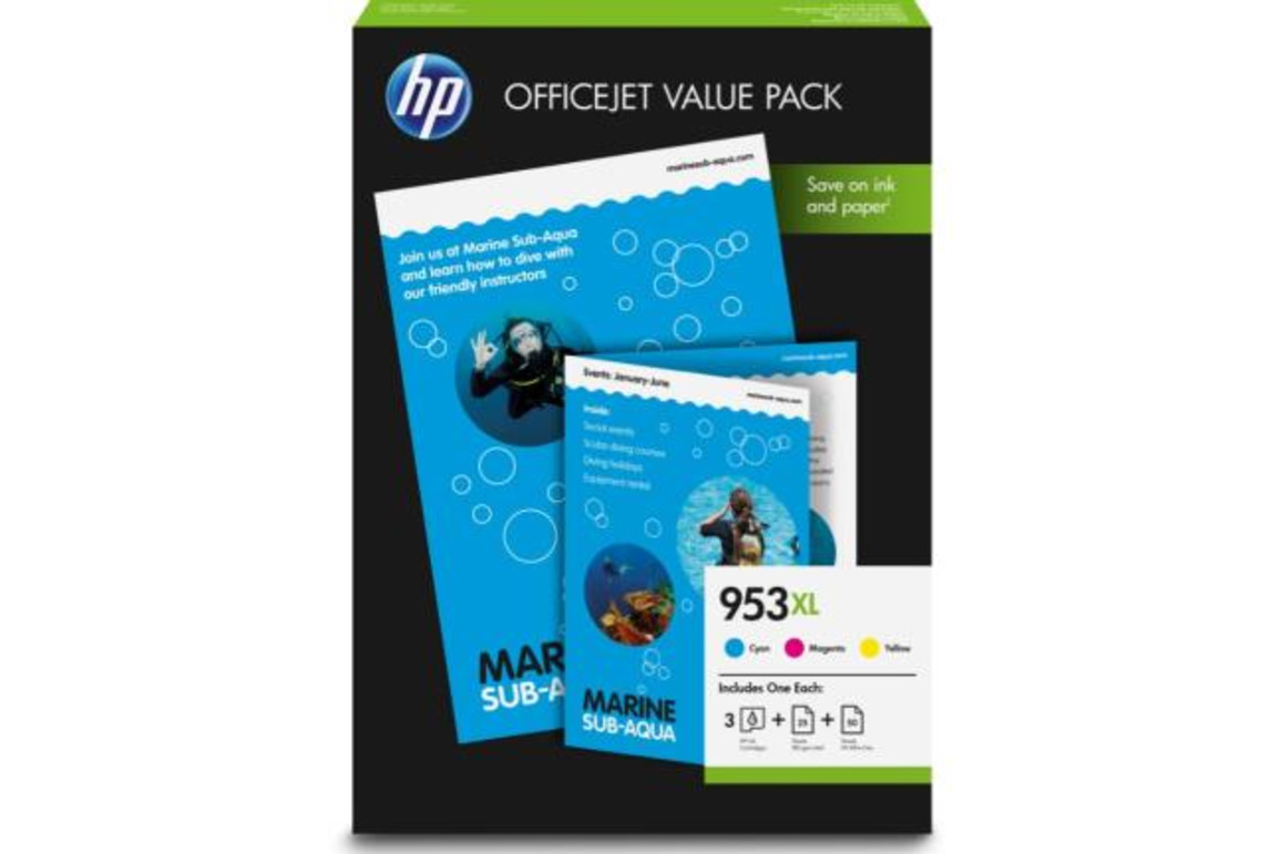 HP Nr.953XL Office Value Pack Inks+Photo Paper, Art.-Nr. 1CC21AE - Paterno Shop