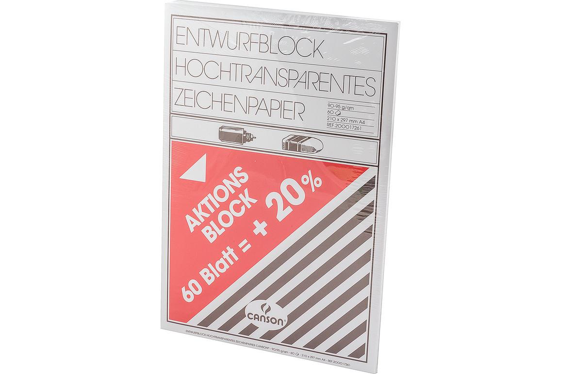 Transparentpapier A3 90/95 gr., Art.-Nr. 205-29,7X42 - Paterno Shop
