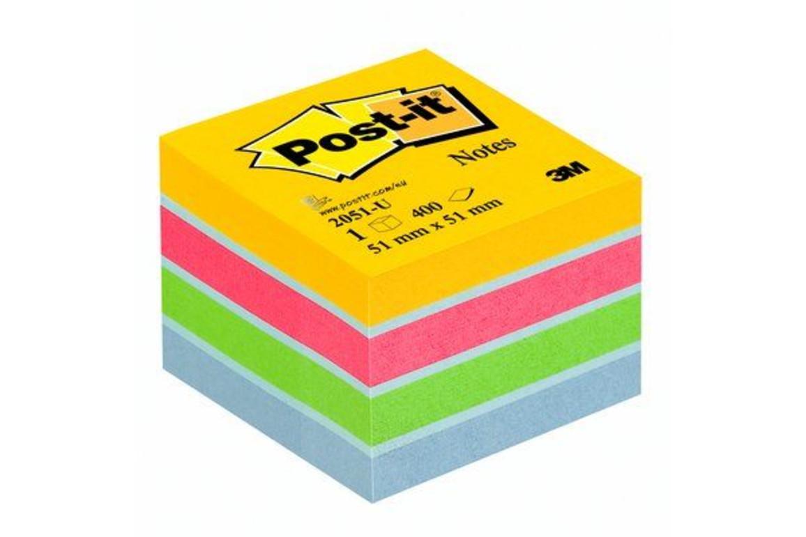 Haftnotizwürfel Post-it 51x51 mm Mini ultrafarben, Art.-Nr. 2051-U - Paterno Shop