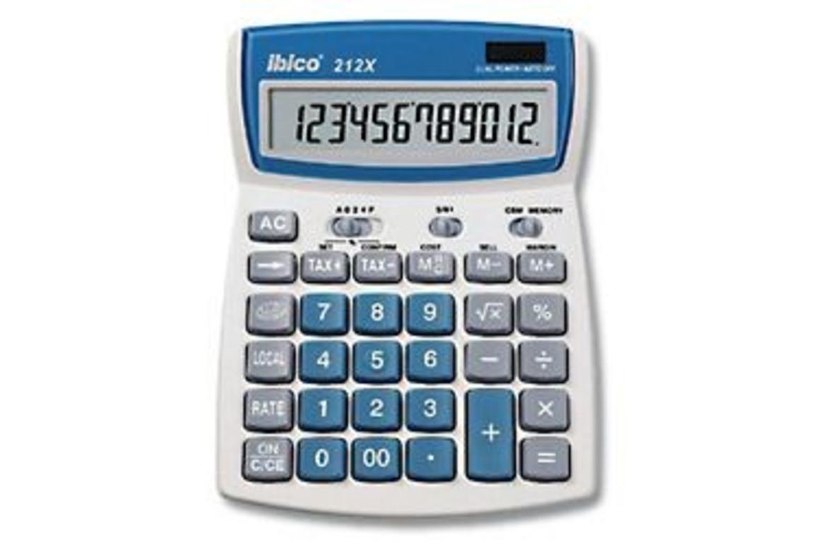Tischrechner Ibico 212 X, Art.-Nr. 212X - Paterno Shop