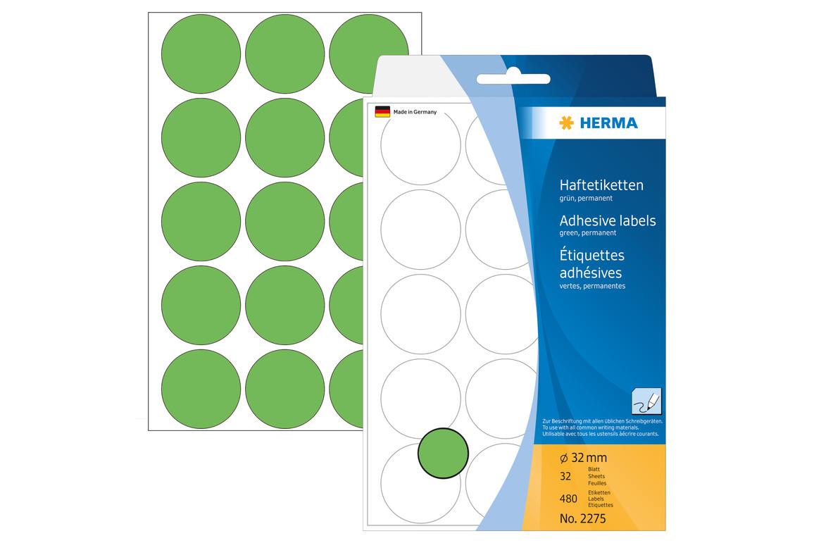Markierungspunkte Herma 32 mm grün, Art.-Nr. 2275E - Paterno Shop