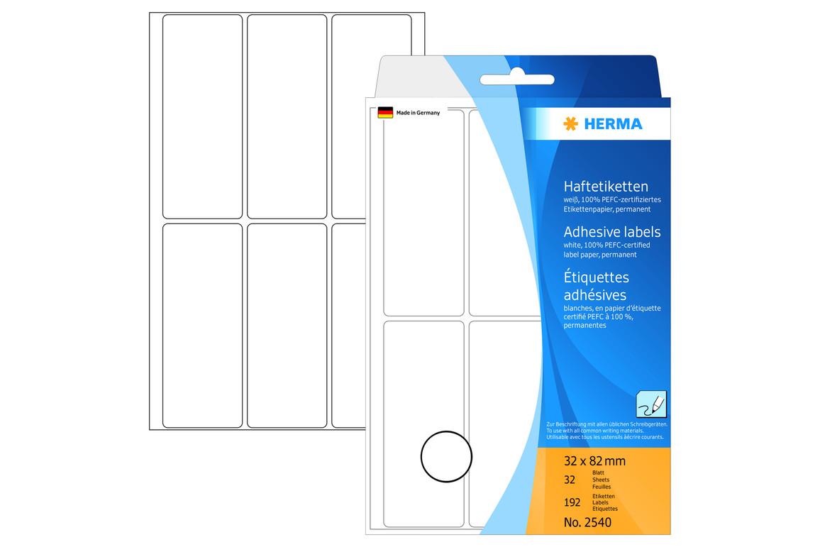 Etiketten Herma weiss 32 x 82 mm, Art.-Nr. 2540E - Paterno Shop