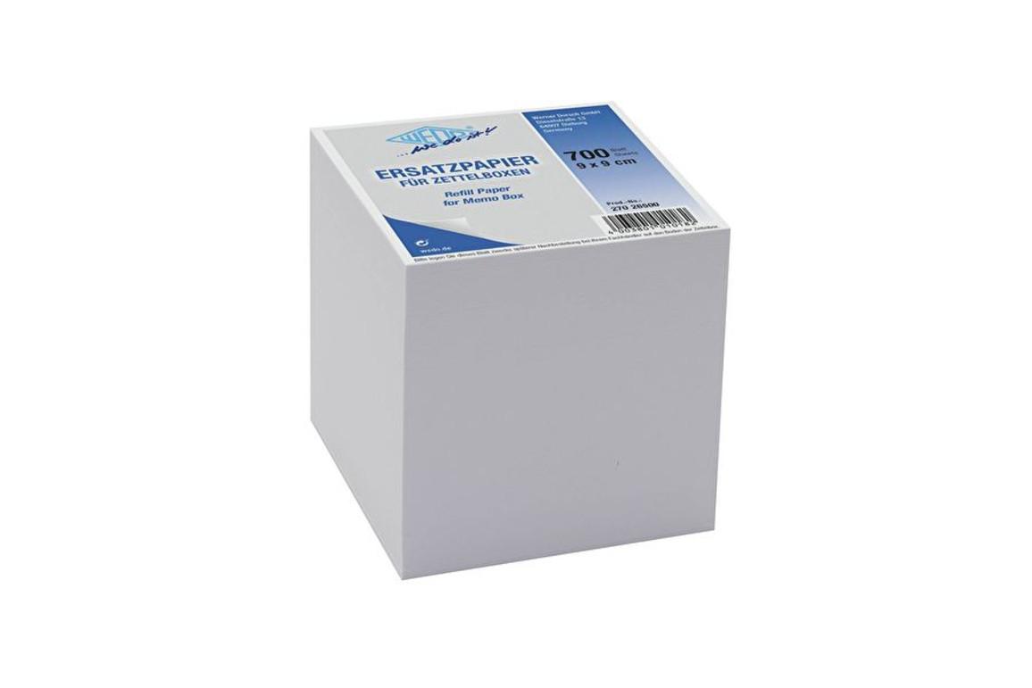 Ersatzpapier Wedo für Zettelbox 9x9 cm, Art.-Nr. 2702650.0 - Paterno Shop