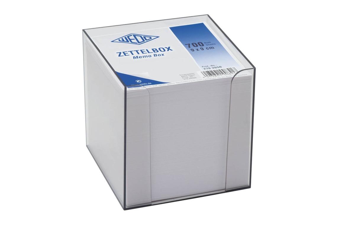 Zettelbox Wedo Kunststoff 9,5 x 9,5 cm, Art.-Nr. 2702650 - Paterno Shop