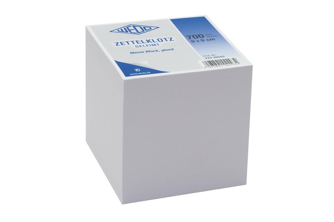 Würfelblock Wedo 9x9x9 cm weiß, Art.-Nr. 27026520 - Paterno Shop