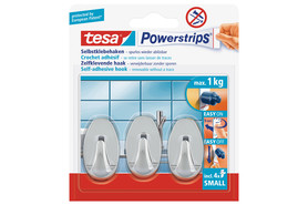 Powerstrips Tesa Haken Small chrom, Art.-Nr. 57543-2 - Paterno Shop