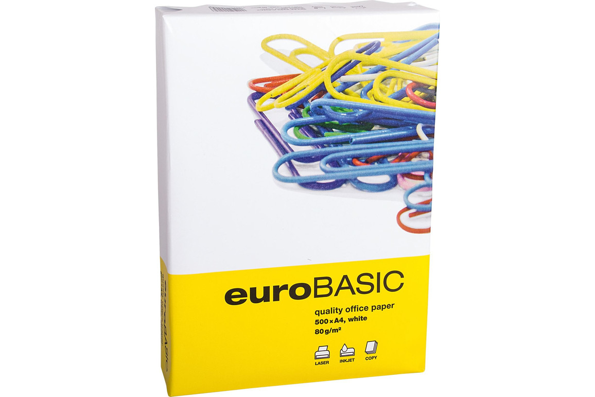 Kopierpapier Basic A4 80 gr. weiß CIE 146, Art.-Nr. BASIC480-K - Paterno Shop