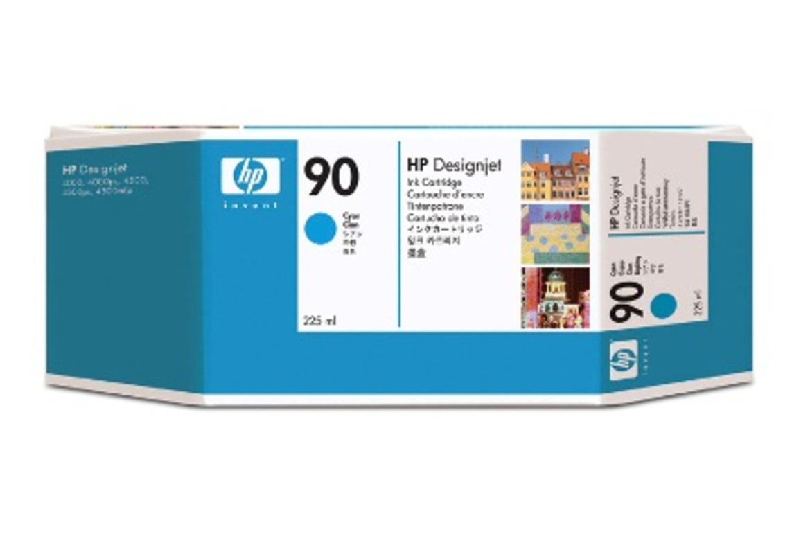 HP Ink Nr.90 cyan 225ml, Art.-Nr. C5060A - Paterno Shop