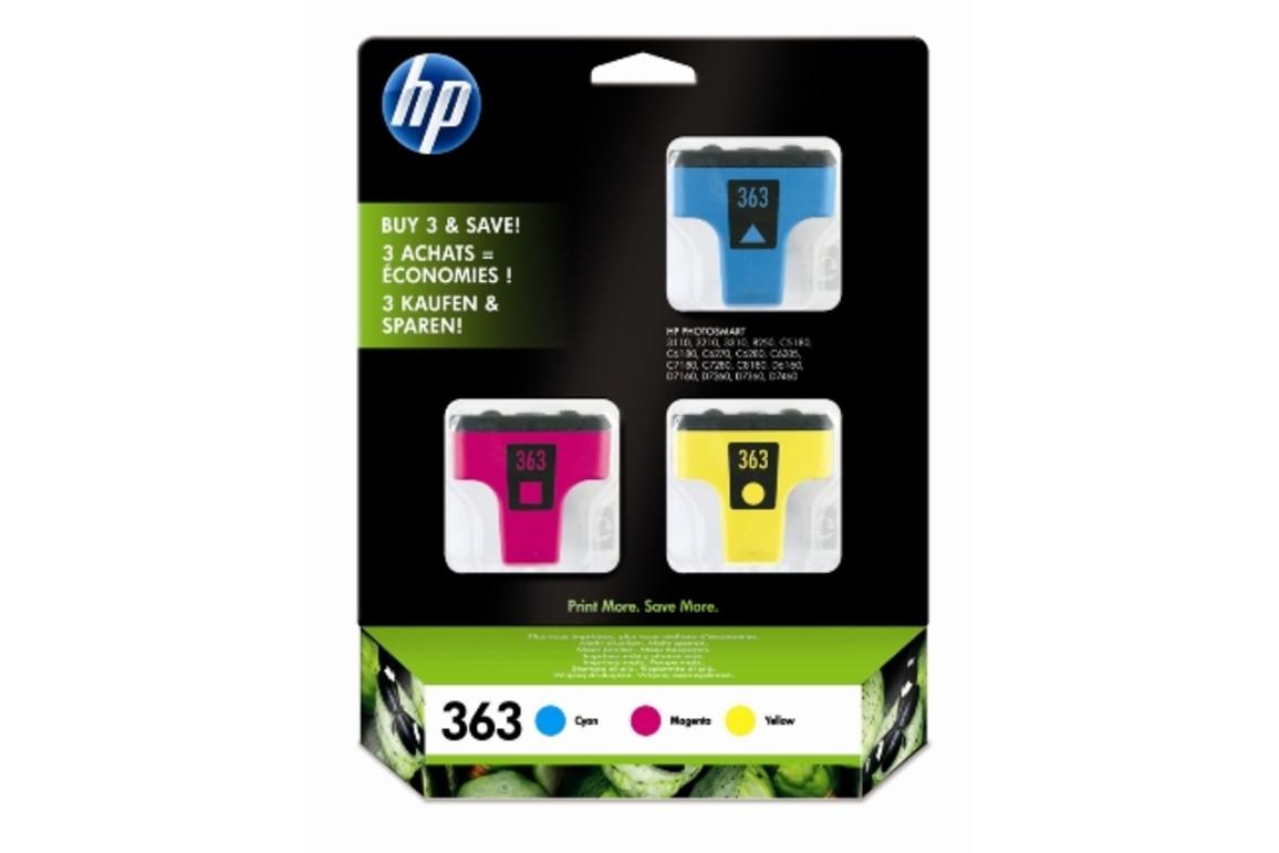 Tintenpatrone HP 363 3er Packung farbig Vivera, Art.-Nr. CB333EE - Paterno Shop