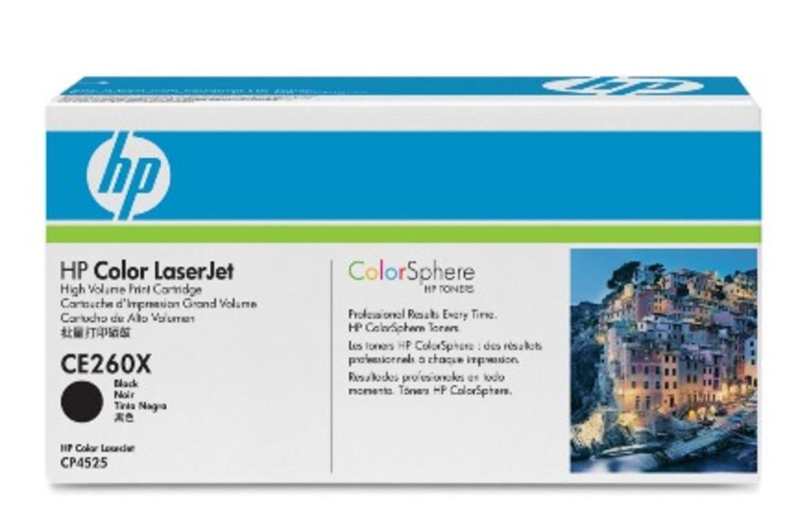 HP Color LJ Cartridge Nr.649X black 17K, Art.-Nr. CE260X - Paterno Shop