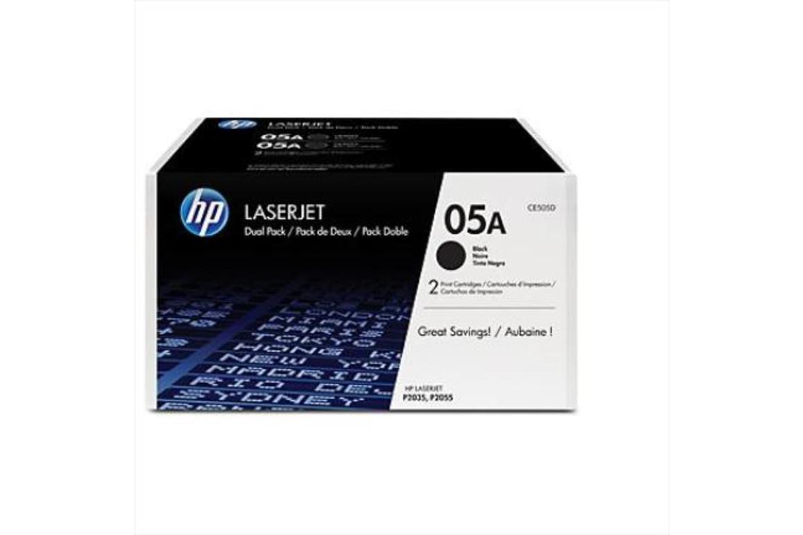 HP LJ Cartridge, Nr.05A black 1x2 2,3K, Art.-Nr. CE505D - Paterno Shop
