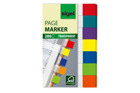 Haftmarker Sigel 50x84mm transparent mini, Art.-Nr. HN677 - Paterno Shop
