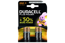 Batterie Duracell Micro1,5 Volt AAA (LR3), Art.-Nr. MN2400-4 - Paterno Shop