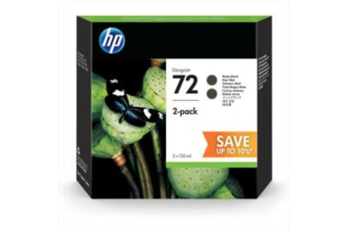 HP Ink Nr.72 matte black Doppelpack je 130ml, Art.-Nr. P2V33A - Paterno Shop