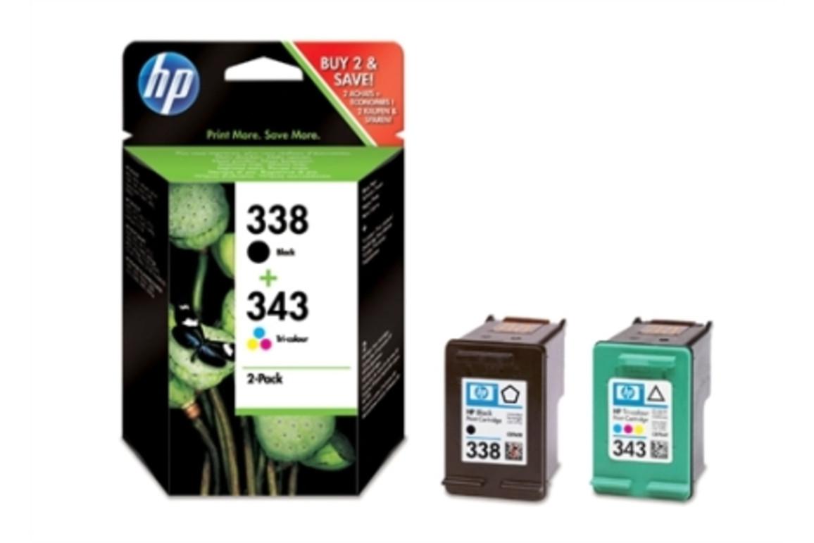 HP Ink Nr.338 + Nr.343, Art.-Nr. SD449EE - Paterno Shop