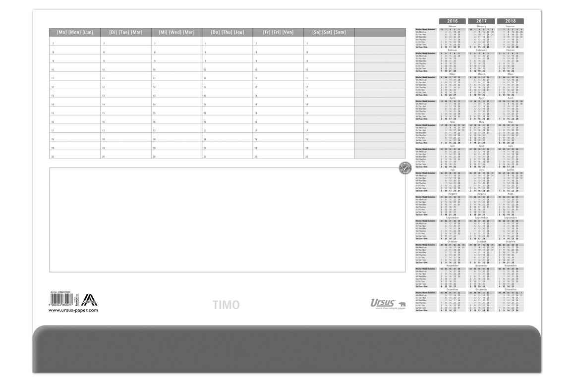 Schreibunterlagenkalender TIMO 52,5x37,5 cm, Art.-Nr. 036436 - Paterno Shop