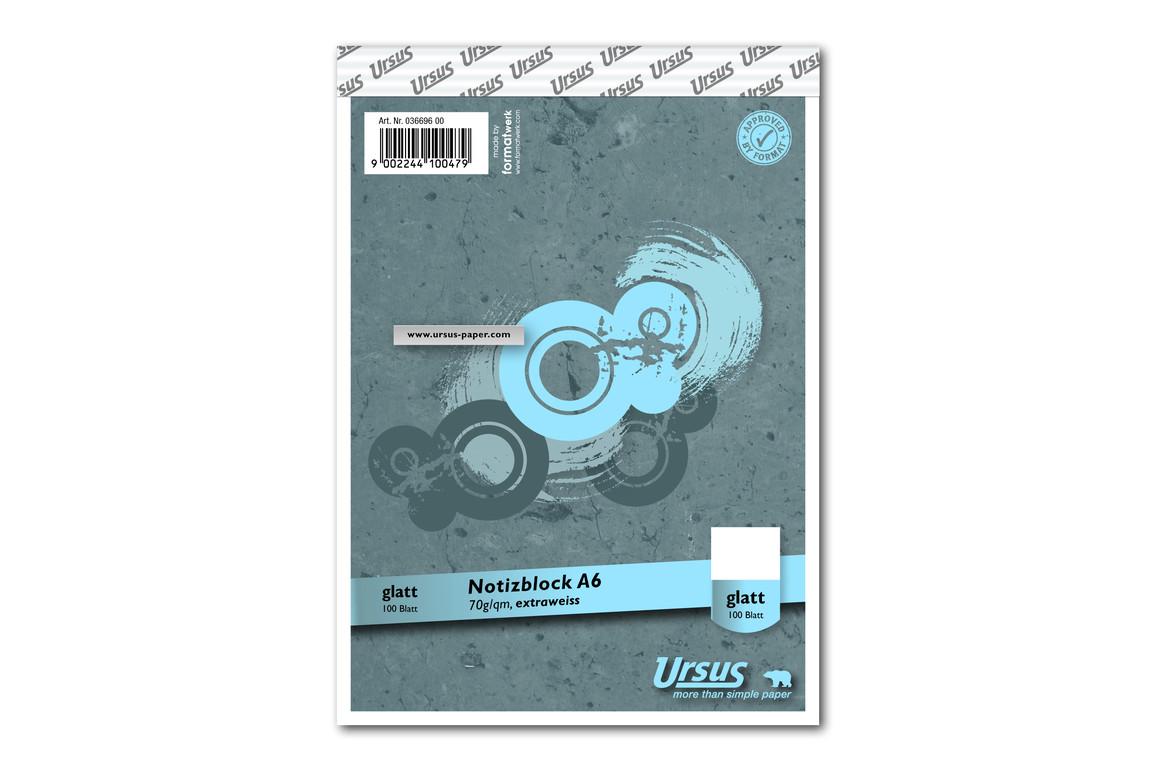 Notizblock Format X A6 96 Bl. lin., Art.-Nr. 036696-10 - Paterno Shop