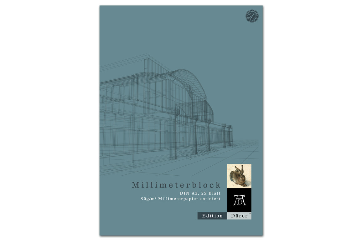 Millimeterpapierblock A3 25 Blatt 90g/qm Format X, Art.-Nr. 036710014 - Paterno Shop