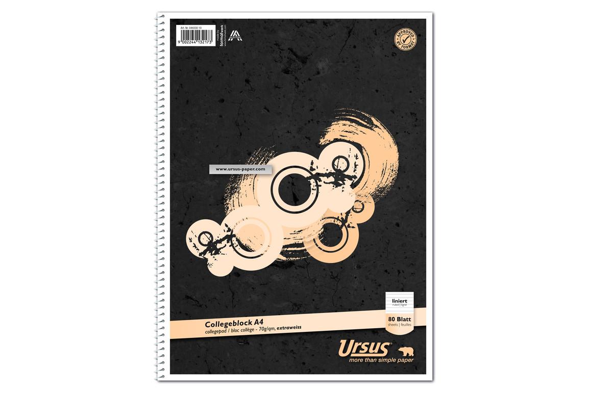 Kollegblock Ursus A4 80 Blatt kariert, Art.-Nr. 044330-20 - Paterno Shop