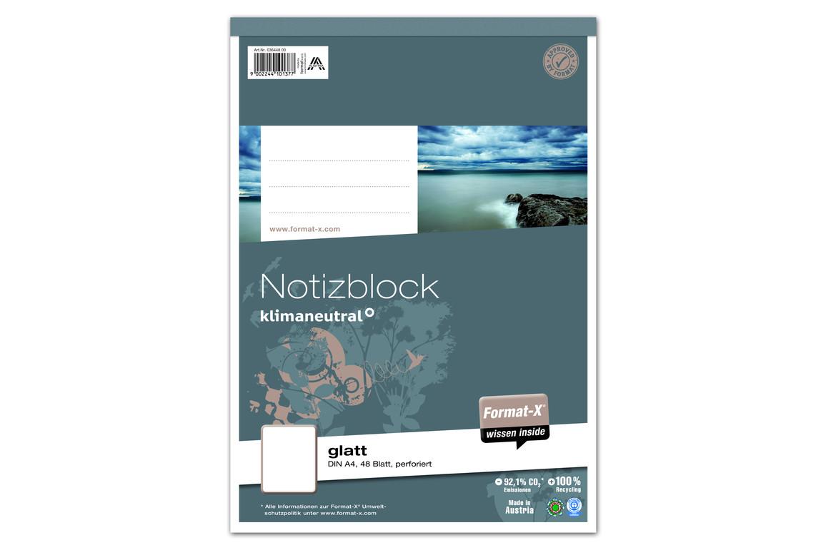 Notizblock A4 48 Blatt 70g/qm glatt, Art.-Nr. 036448-00 - Paterno Shop