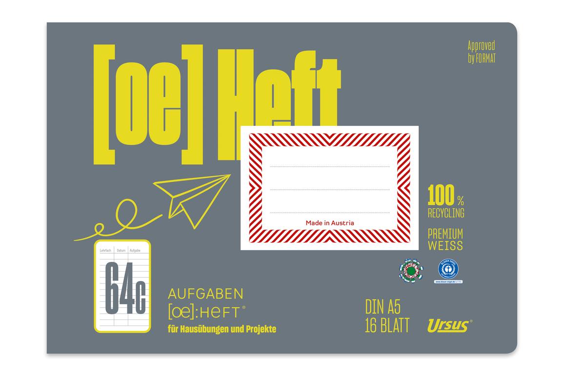 Aufgabenheft Ursus A5 quer 16 Blatt, Art.-Nr. 078516 - Paterno Shop